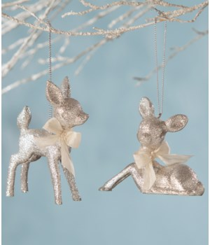 Fawn Ornament Platinum 2/A