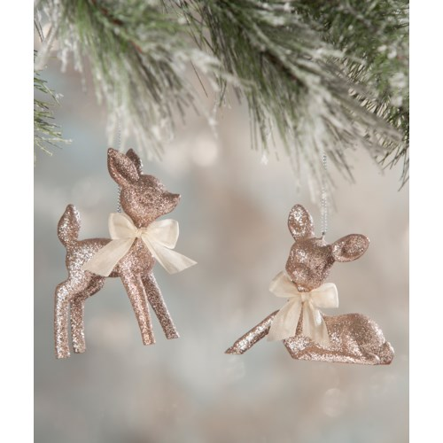 Fawn Ornament Pastel Pink 2/A