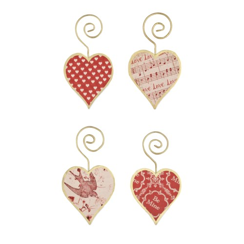 Tin Heart Ornament 4A