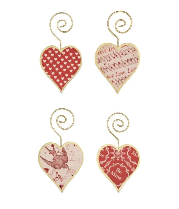 Tin Heart Ornament 4A