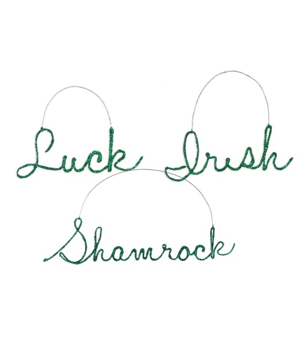 St. Pat's Wire Word Ornament 3A