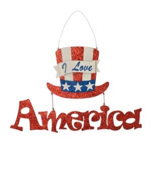 I Love America Tin Sign