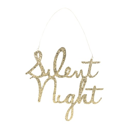 Silent Night Tin Sign