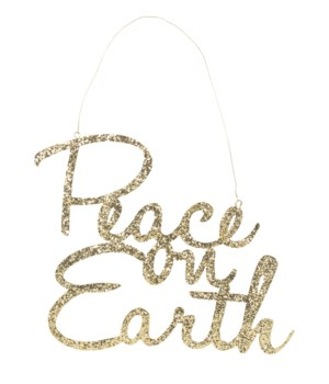 Peace on Earth Tin Sign
