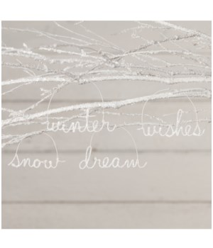 Winter Wire Word Ornament 4/A