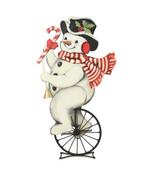 Snowman on Unicycle