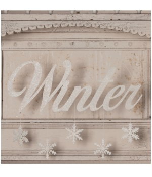 Winter Tin Sign