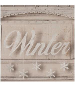 Winter Tin Sign