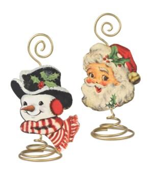 Retro Christmas Place Card Holder 2/A