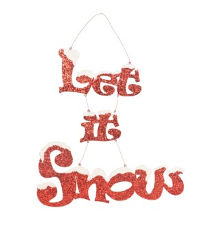 Let It Snow Tin Sign