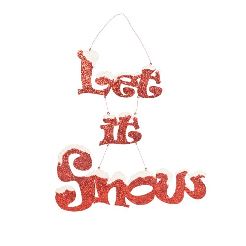 Let It Snow Tin Sign
