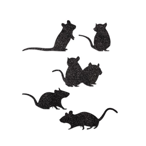 Scampering Mice Silhouette 5A