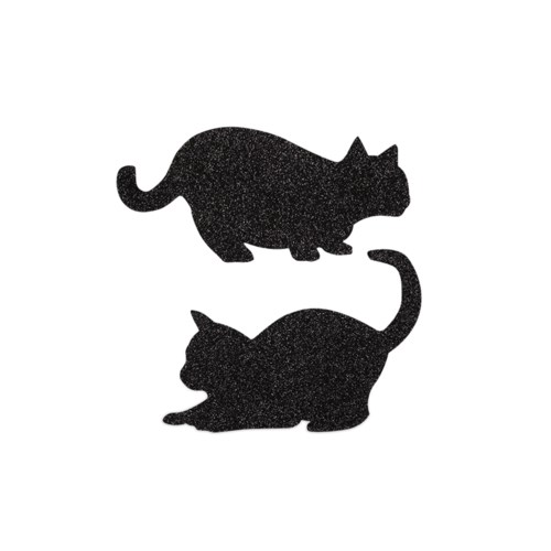 Prowling Cats Silhouette 2A