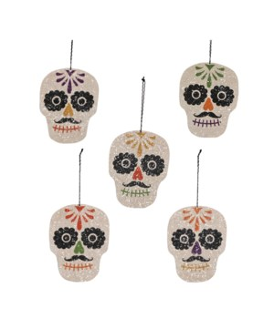 Sugar Skull Ornament 5/A