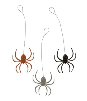 Creepy Crawly Spider Tin Ornament 3/A