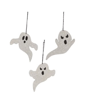 Ghost Tin Ornament 3/A
