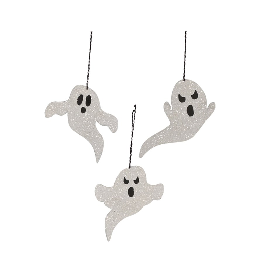 Ghost Tin Ornament 3A