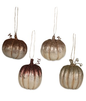 Elegant Fall Pumpkin Ornament 4A