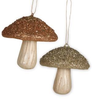 Elegant Fall Mushroom Ornament 2A