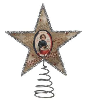 Patriotic Star Tree Topper