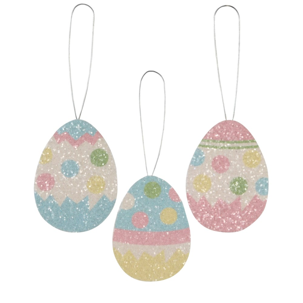 Polka Dot Egg Tin Ornament 3A