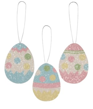 Polka Dot Egg Tin Ornament 3/A