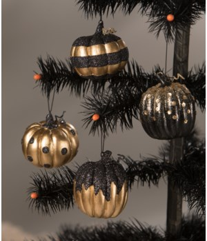 All Hallow's Eve Pumpkin Ornament 4/A