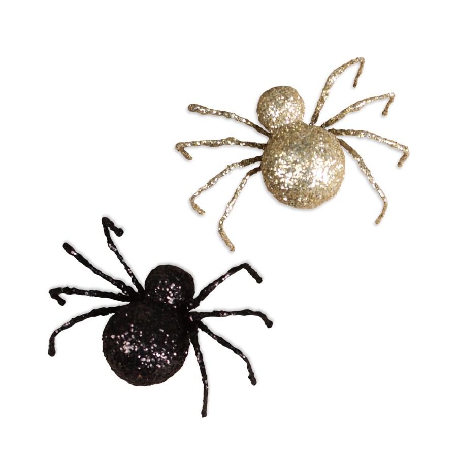 Black & Gold Glittered Spider 2/A
