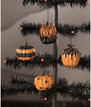 Happy Halloween Pumpkin Ornament 4A