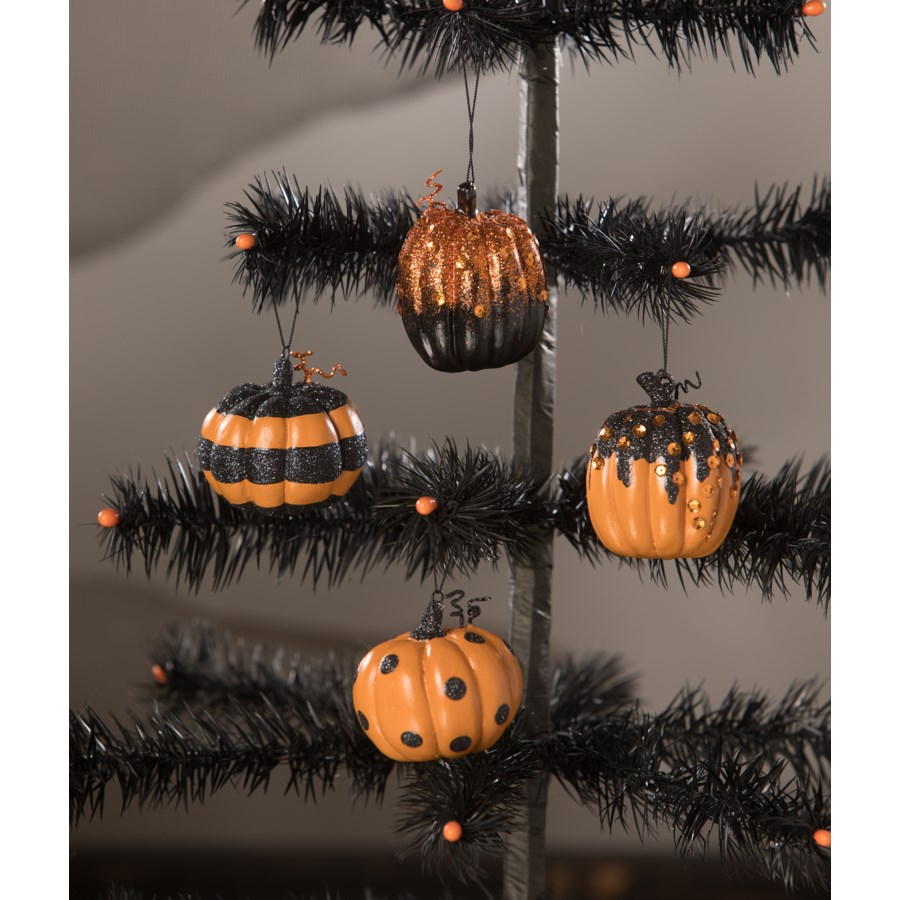 Happy Halloween Pumpkin Ornament 4/A