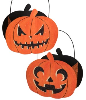 Jack O' Lantern Tin Candy Bucket