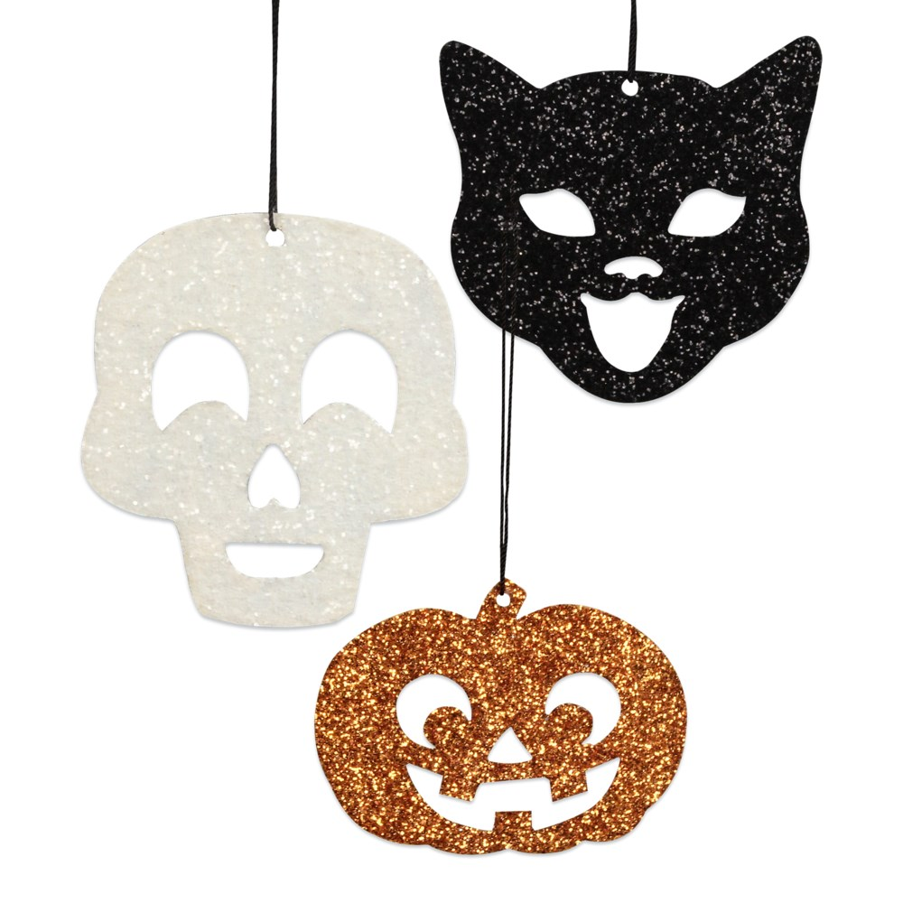 Halloween Silhouette Tin Ornament 3A