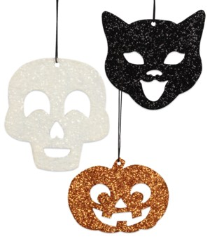 Halloween Silhouette Tin Ornament 3/A
