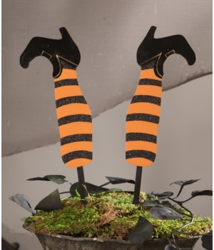 Witch's Legs Floral Pick S/2