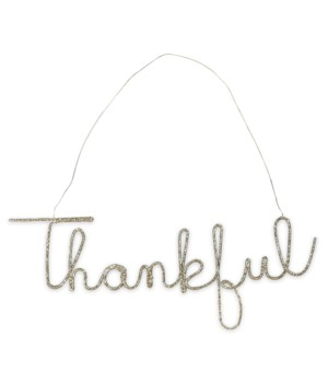 Thankful Wire Word Large