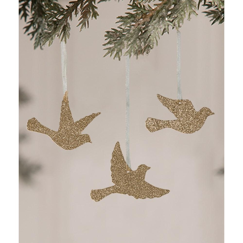 Peaceful Bird Silhouette Ornament 3A