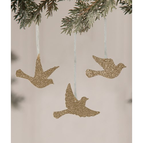 Peaceful Bird Silhouette Ornament 3/A