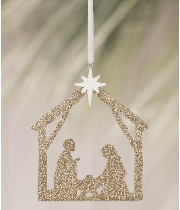 Nativity Silhouette Ornament