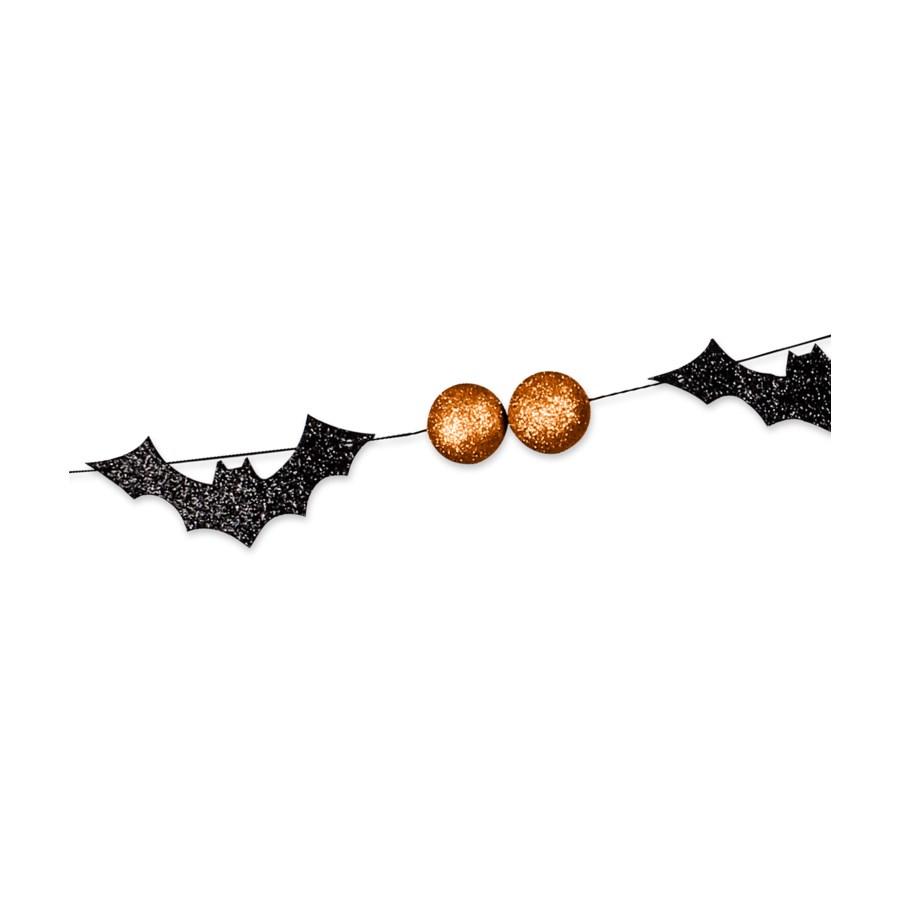 Bats & Orange Bead Garland
