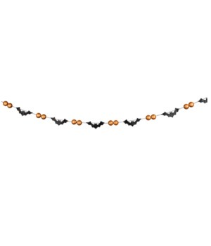 Bats & Orange Bead Garland