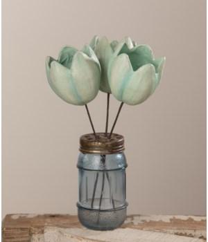 Tulip Pick Blue Paper Mache