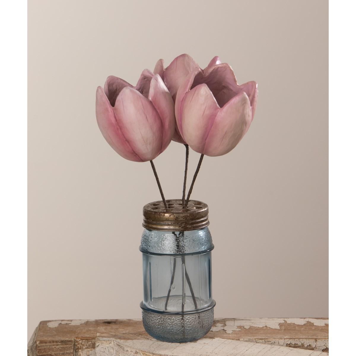 Tulip Pick Lavender Paper Mache