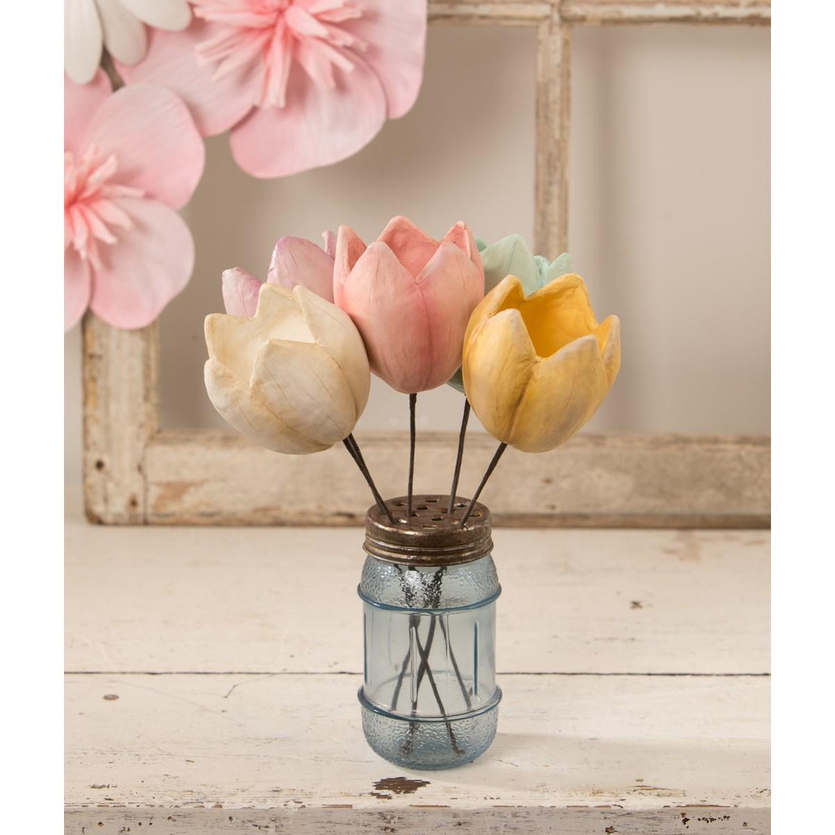 Tulip Pick Pink Paper Mache
