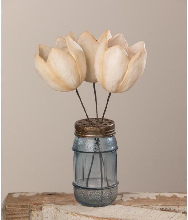 Tulip Pick White Paper Mache