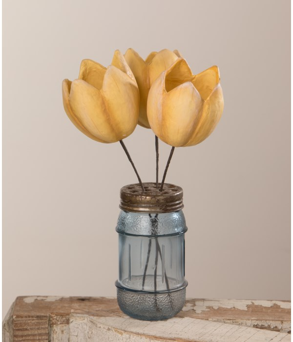 Tulip Pick Yellow Paper Mache