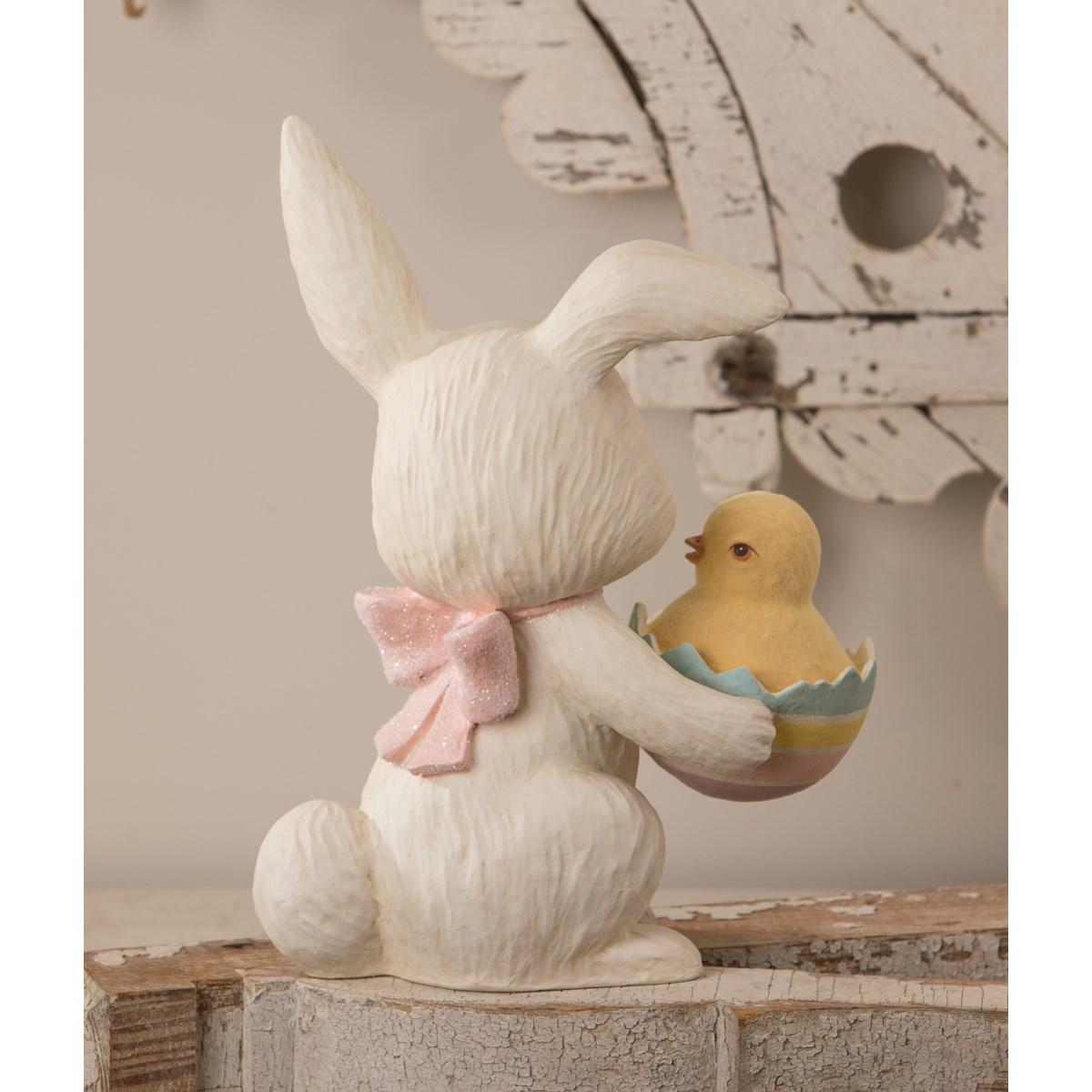 Easter Egg Surprise Bunny Large Paper Mache