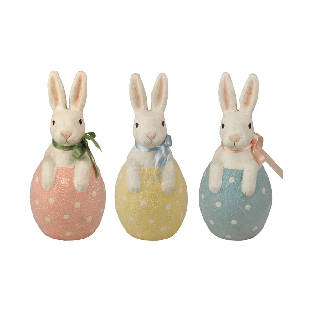 Bunny in Egg Paper Mache 3A