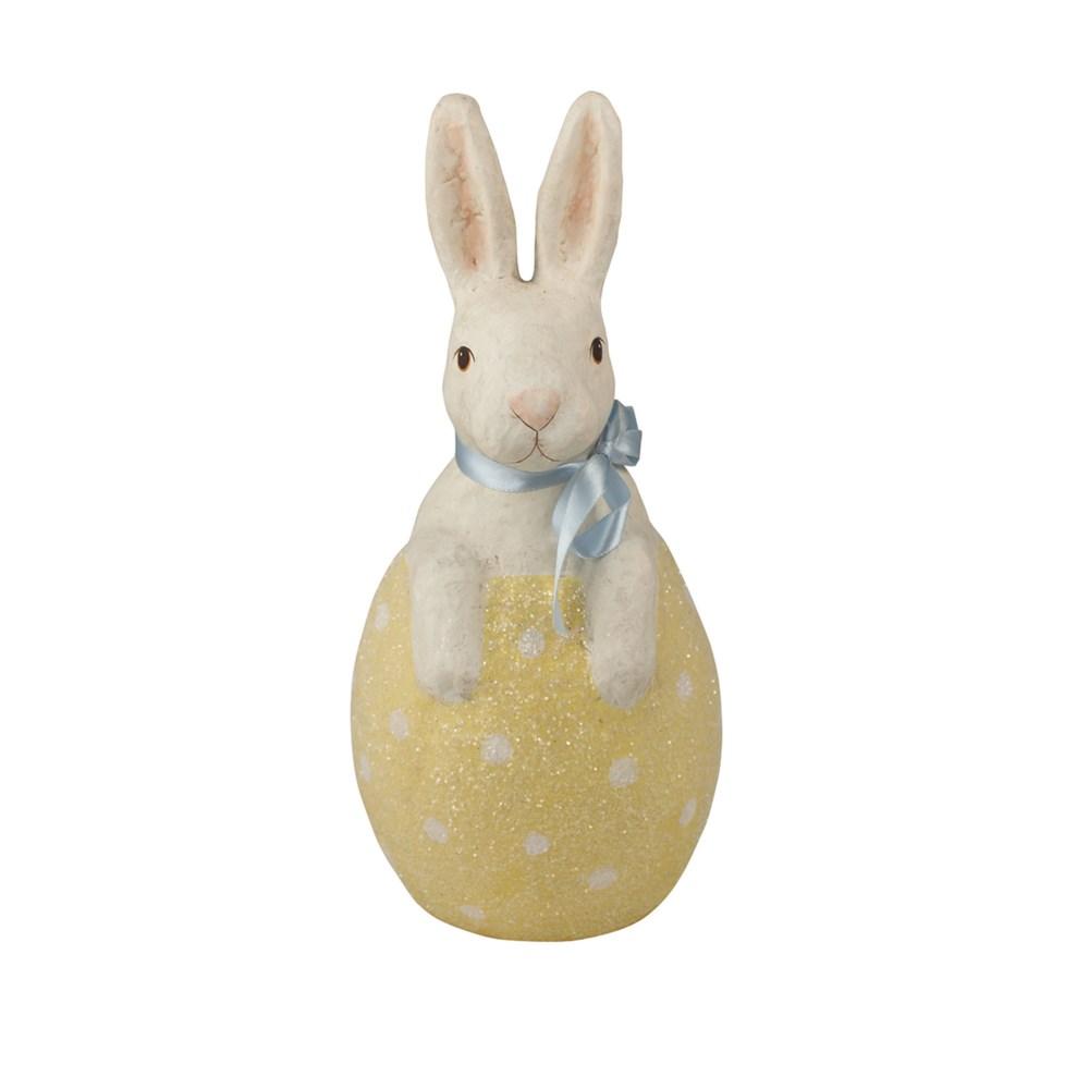Bunny in Yellow Egg Paper Mache