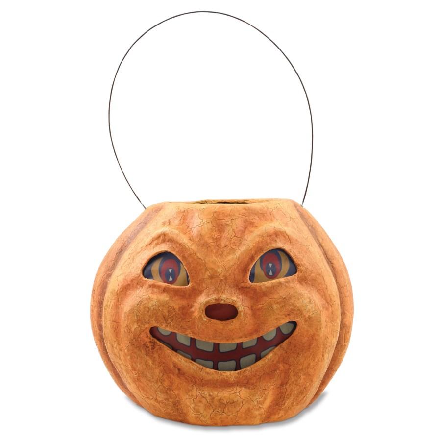 Vintage Pumpkin Bucket Large