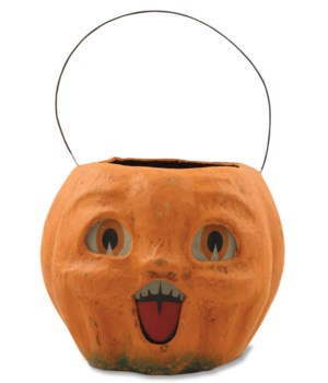 Happy Vintage Pumpkin Bucket Medium